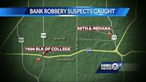 Pair in custody in KC after Overland Park bank heist