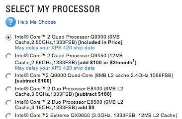 Dell makes Core 2 Quad Q9300, Q9450 available in XPS 420
