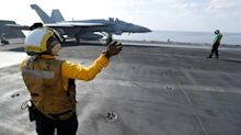 Apparently You Don't Have To Be An American To Land On a U.S. Aircraft Carrier