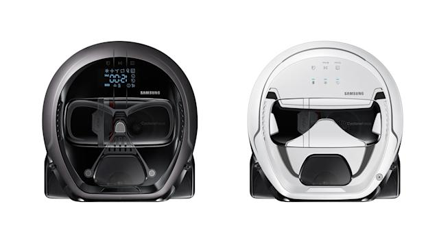 Samsung's new robot vacuums banish Darth Vader to cleaning duty