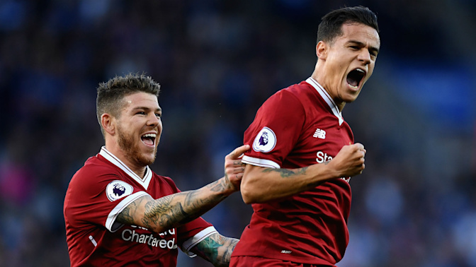 Coutinho helps halt Reds' slump in thriller