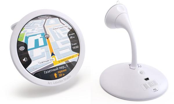 Art Lebedev's Navigarius GPS concept proves it's hip to be round