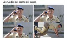 El rey Juan Carlos y todo tipo de personajes públicos, víctimas del meme de las ruedas del carrito del súper