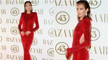 La alfombra roja de los premios Harper's Bazaar Actitud 43