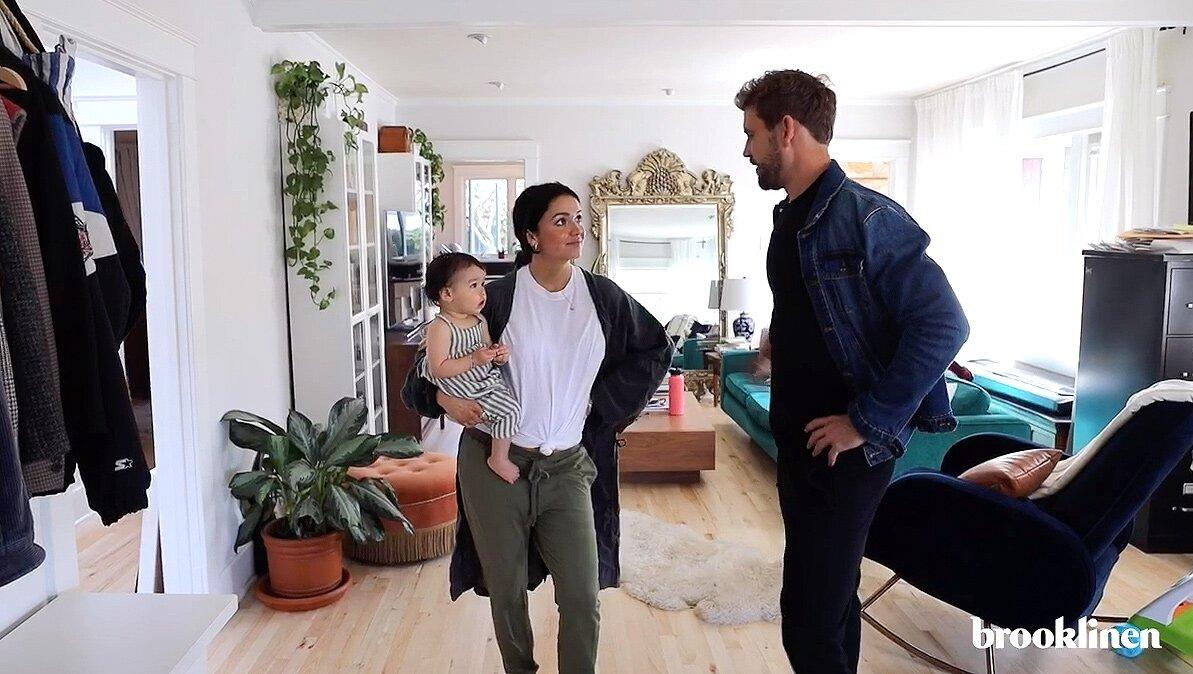 Pregnant Bekah Martinez Tells Nick Viall to 'Please Get Off' Her Bed During Hilarious Home Tour