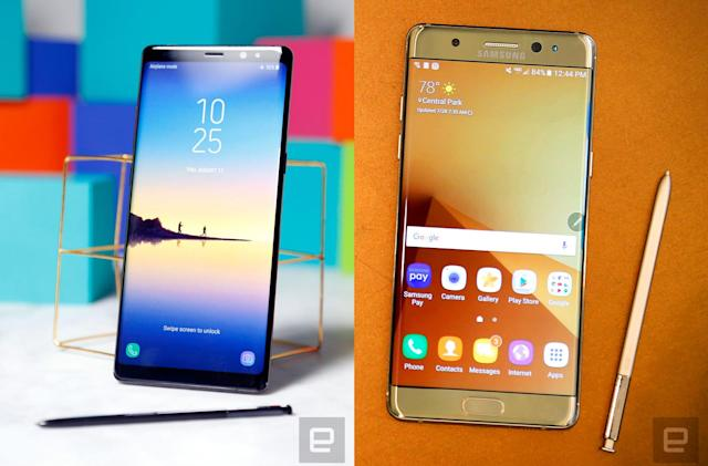 The Galaxy Note 8 vs. the Note 7: What's changed?
