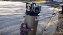 This Little Girl Mistaking A Broken Water Heater For A Robot Is Cute As Hell