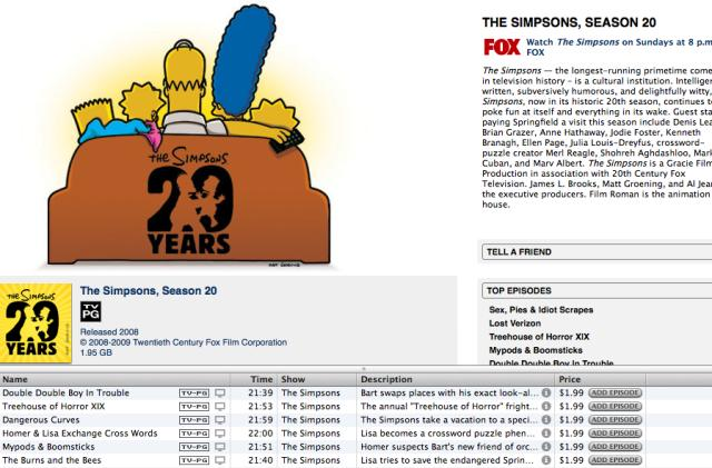 D'Oh! The Simpsons TV makes it to iTunes