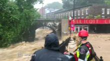 Severe flooding strikes Balitmore suburb