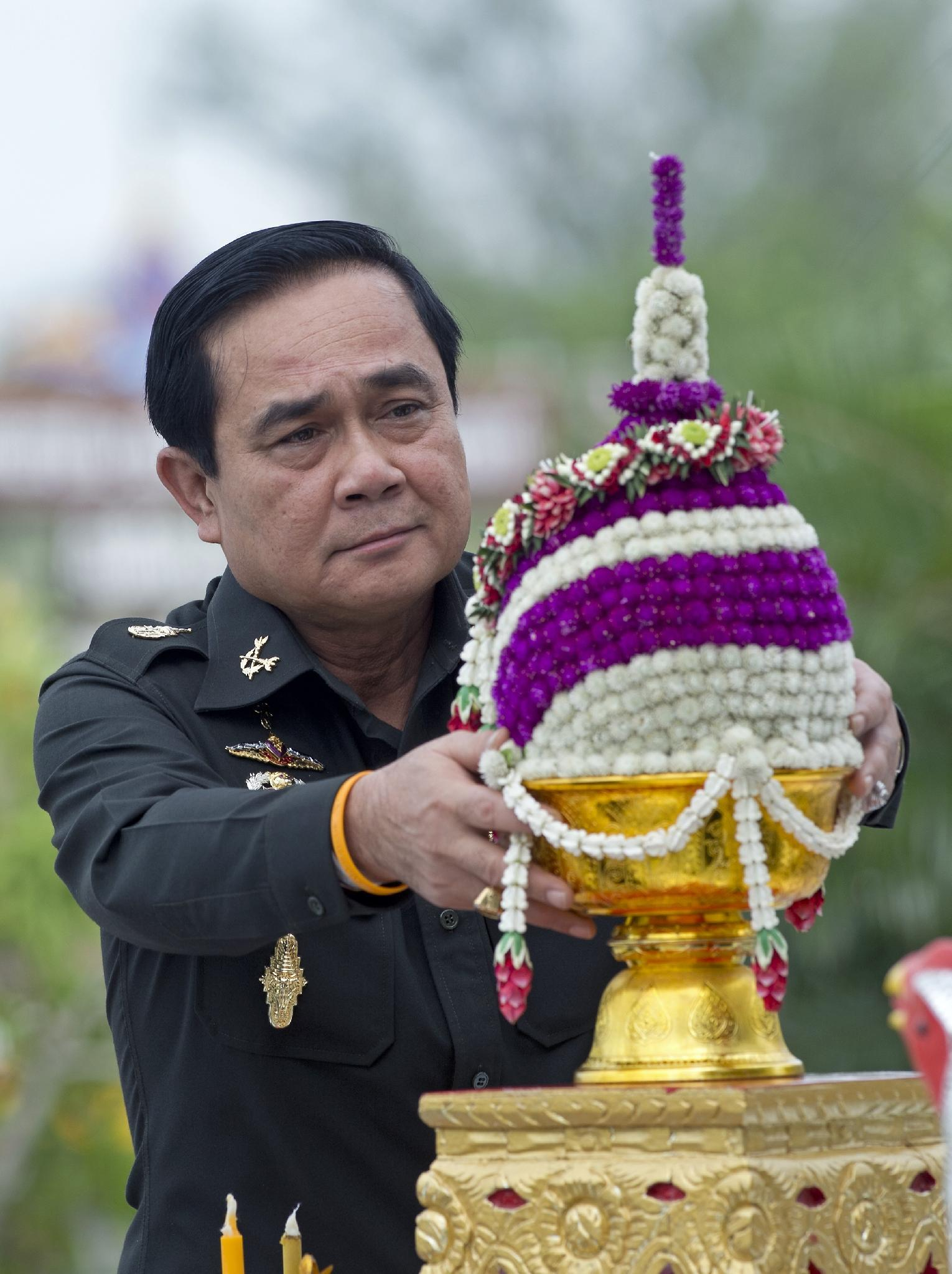 General Prayut Chan-O-Cha during the military anniversary's 21st Infantry Regiment in Chonburi province on August 21, 2014 (AFP Photo/Pornchai Kittiwongsakul)