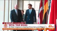 Harry and Meghan begin their first official day of Australian tour