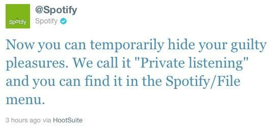 Spotify users get a 'private listening' mode, Facebook account still required