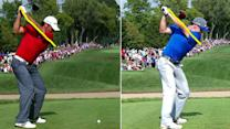 PGA Championship: McIlroy vs. Day swing comparison