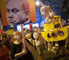 Israel's Netanyahu rails at media over protests against him
