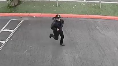 Video released in search for college slaying suspect