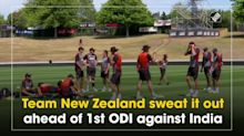 Team New Zealand sweat it out ahead of 1st ODI against India