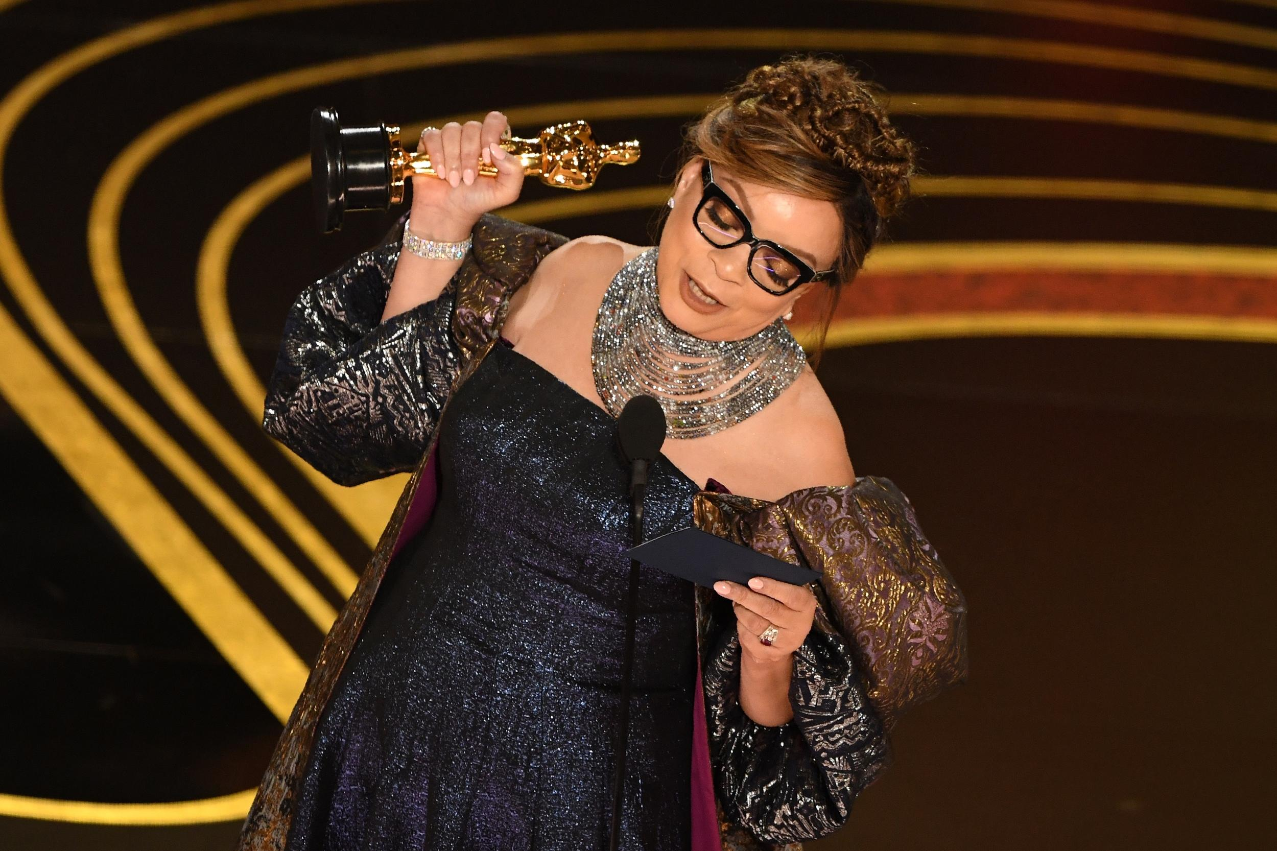 Best Costume Design nominee for 'Black Panther' Ruth E. Carter accepts her Oscar during the 91st Annual Academy Awards at the Dolby Theatre in Hollywood, California on February 24, 2019. (Photo by VALERIE MACON / AFP)        (Photo credit should read VALERIE MACON/AFP/Getty Images)