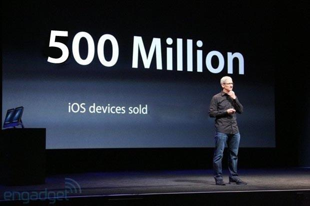 Apple: over 500 million iOS devices sold