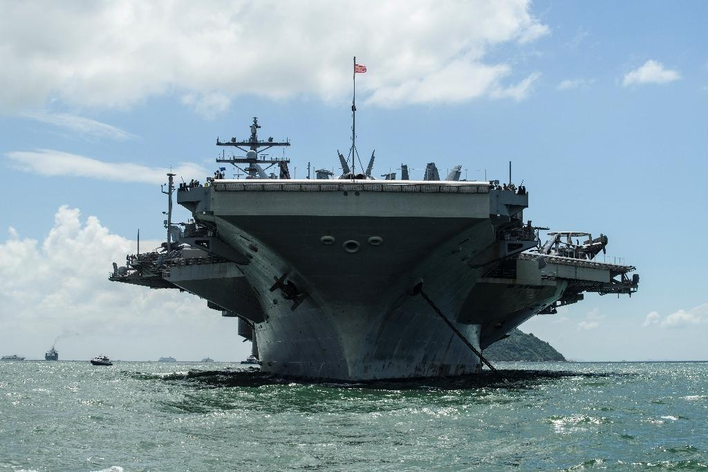 S  Korea to join three US aircraft carriers in drills
