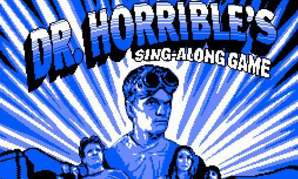 Dr. Horrible's Sing-Along Blog recreated in 8-bit style
