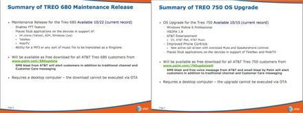 Updates coming any day now for AT&T's Treo 680 and 750?