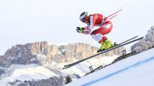 Siebenhofer leads Stuhec in Val Gardena downhill training