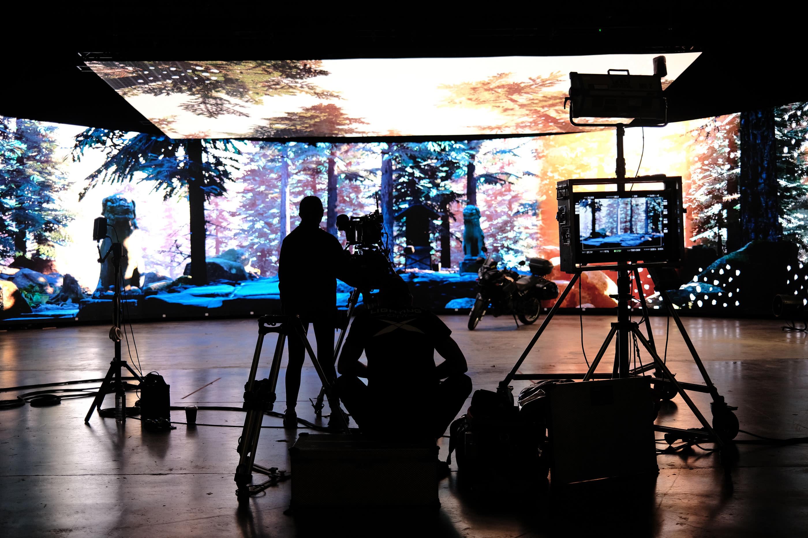 Shooting inside LED wall volume