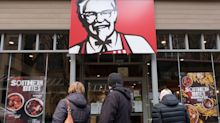 A chicken shortage in the UK dragged down KFC sales in the first quarter