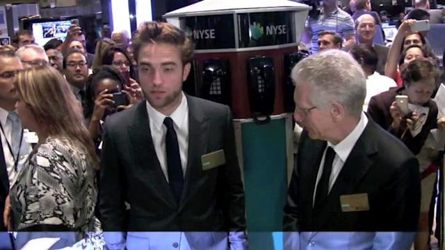 Robert Pattinson Rings Opening Bell of New York Stock Exchange
