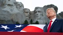 Trump attacks core US values at Rushmore. Disagree with him, you're an enemy of the state.