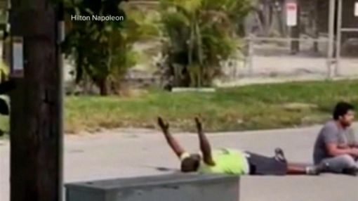 Miami police union president: Cop fired weapon to protect unarmed black man, but missed