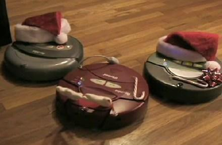 Roombas get some holiday cheer, go caroling