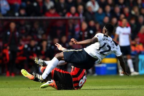 Bournemouth's Arter Clatters Wanyama