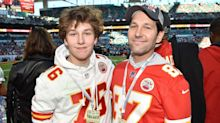 Watch Chiefs superfan Paul Rudd and son celebrate Super Bowl win with MVP Patrick Mahomes