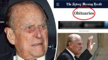 Prince Philip obituary published by Sydney paper in major gaffe