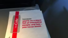 'You never know': Plane passengers 'creeped out' by new Coke napkins