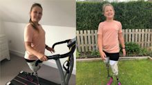 10-year-old amputee raises £10,000 for charity with lockdown marathon