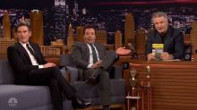 Alec Baldwin hijacks the 'Tonight Show' desk from Jimmy Fallon