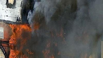 Raw: Four-alarm fire burns in New Jersey