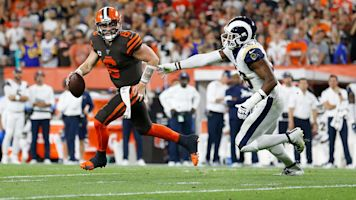 Rams tough defense too much for Baker's Browns