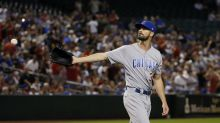Cubs pick up Cole Hamels' $20M option but trade another pitcher to Rangers