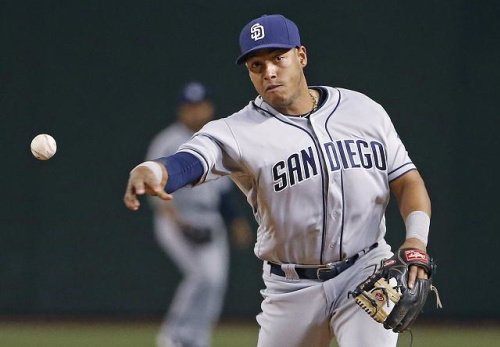 Padres infielder Yangervis Solarte had returned home to be with his family on Friday. (AP)
