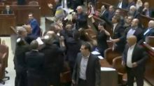 Scuffle breaks out in Israeli parliament as U.S. VP Pence begins to speak