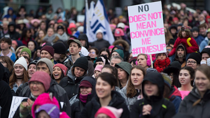 Women across Canada march for equality
