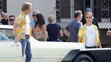 "Brad Pitt mal zwei: Set-Fotos ""Once Upon A Time in Hollywood"" zeigen ihn mit Stunt-Double"