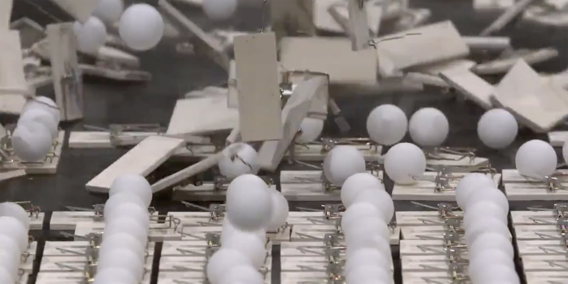 PSA shows how Social distancing works by using ping pong balls