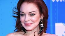 Lindsay Lohan makes her red carpet return at the MTV EMAs