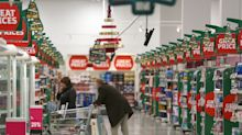Supermarket sales growth almost halts ahead of general election