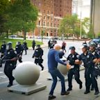 Buffalo, N.Y., protester in serious condition after being shoved to ground by police; 2 officers involved suspended without pay