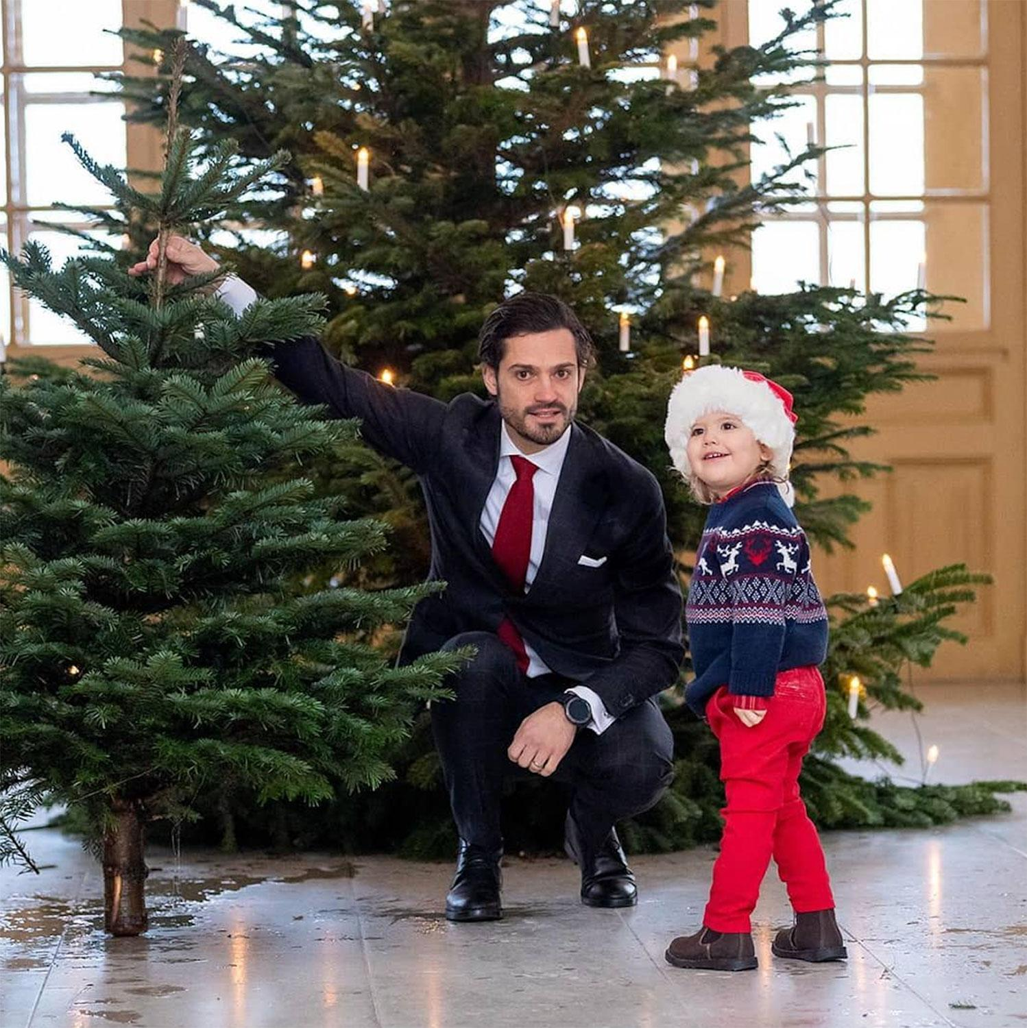 Prince Christmas Decorations.Sweden S Prince Alexander In A Santa Hat Helps Dad Prince